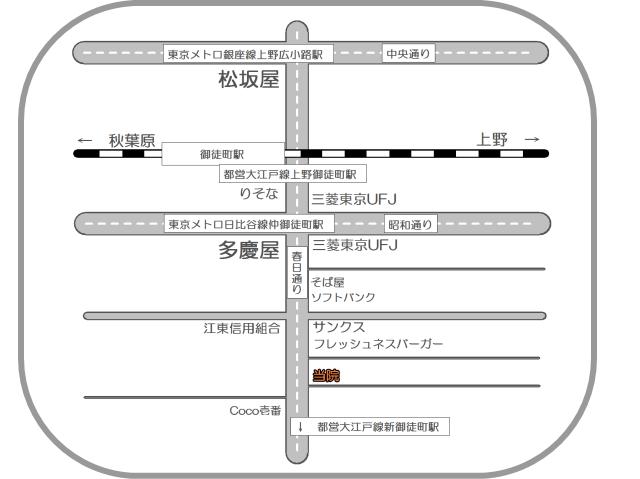 東京都台東区の整体-PAOカイロプラクティック上野・御徒町-アクセスマップ